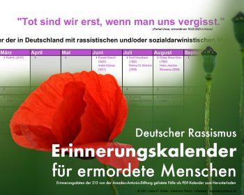 Erinnerungskalender rassistischer Morde in Deutschland | © 2021 Claus R. Kullak | Johannes Plenio / Unsplash | respublica.prepon.de